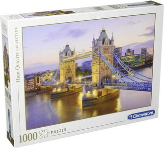 PUZZLE 1000 PEZZI HIGH QUALITY COLLECTION TOWER BRIDGE 69 X 50 CM CLEMENTONI