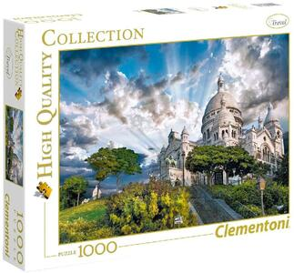 PUZZLE 1000 PEZZI HIGH QUALITY COLLECTION MONTMARTRE 69 X 50 CM CLEMENTONI