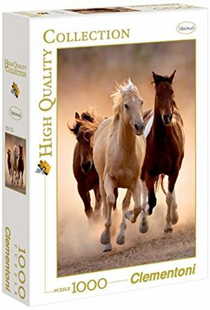 PUZZLE 1000 PEZZI HIGH QUALITY COLLECTION RUNNING HORSES CAVALLI IN CORSA 69 X 50 CM CLEMENTONI