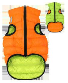 Airyvest M 45 cm Arancione Verde Cappottino Piumino Per Cani Impermeabile Cappotto