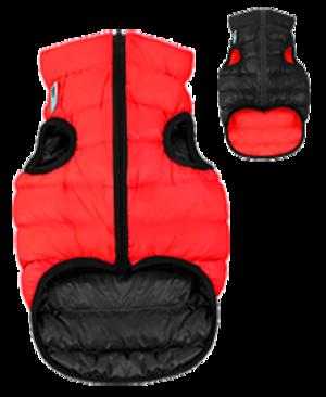 Airyvest L 55 cm Rosso Nero Cappottino Piumino Per Cani Impermeabile Cappotto
