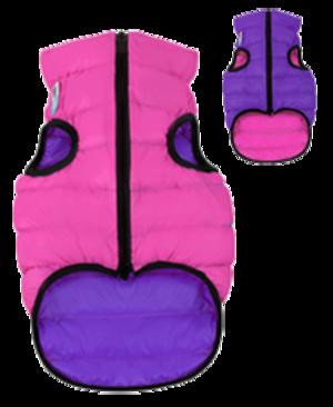 Airyvest M 50 cm Viola Rosa Cappottino Piumino Per Cani Impermeabile Cappotto
