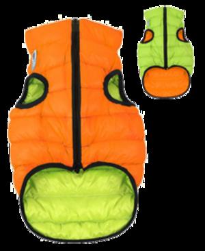 Airyvest XS 22 cm Arancione Verde Cappottino Piumino Per Cani Impermeabile Cappotto