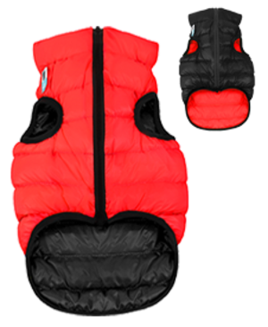 Airyvest M 50 cm Rosso Nero Cappottino Piumino Per Cani Impermeabile Cappotto