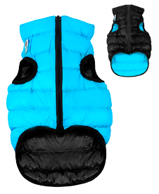 Airyvest L 65 cm Blu Nero Cappottino Piumino Per Cani Impermeabile Cappotto