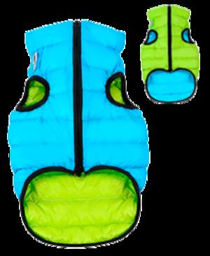 Airyvest M 45 cm Blu Verde Cappottino Piumino Per Cani Impermeabile Cappotto