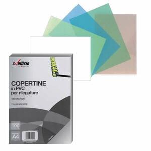 COPERTINE PER RILEGATURA IN PVC A4 180 MICRON TRASPARENTI CONFEZIONE 100 PZ AVUFFICIO