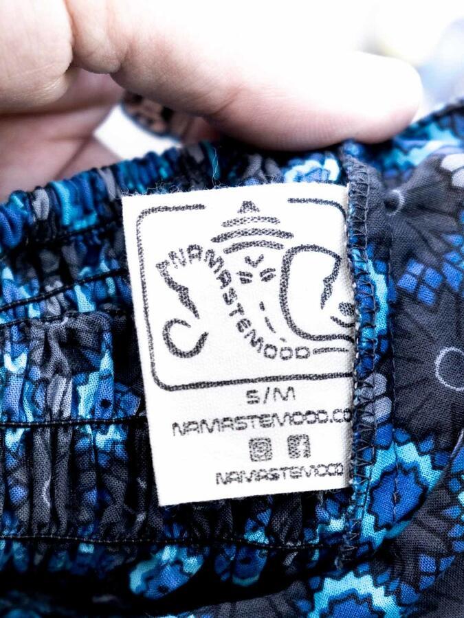 Jumpsuit donna corto con cintura Deepa - blu fiorato