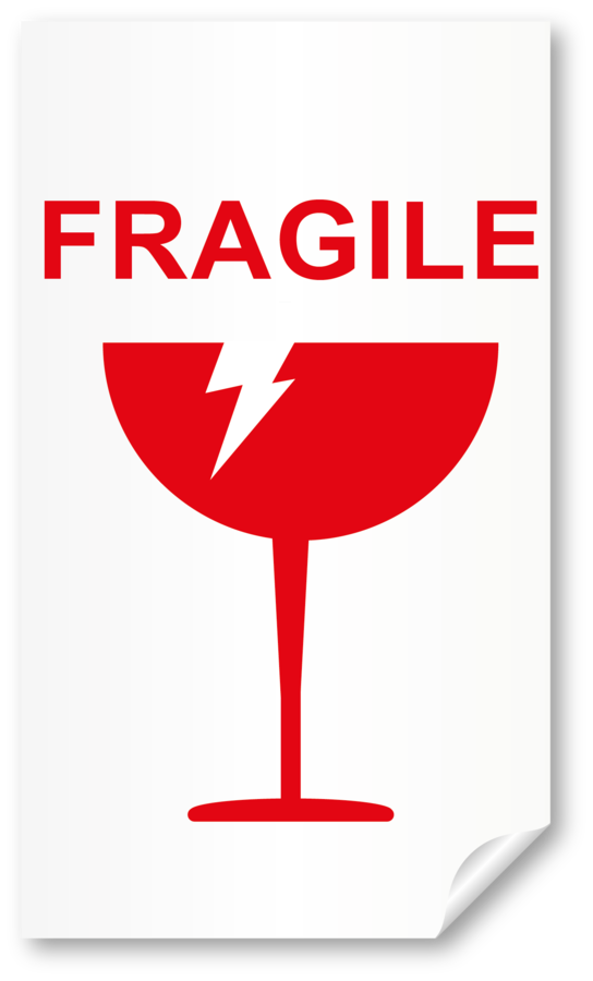 "20 Etichette adesive ""FRAGILE"""
