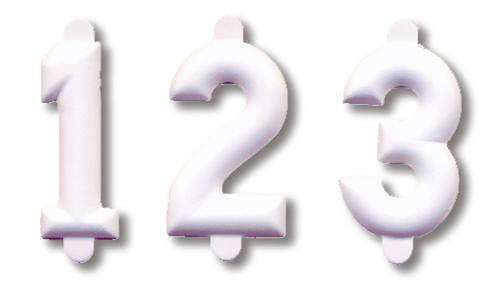 25 Cifre numeriche bianche ht. cm. 2,5