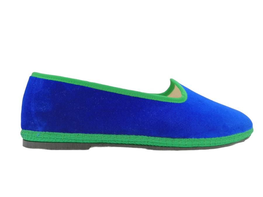 Friulana Fratta - 205 Bi-Color - Velluto Bluette - Gro Verde Bandiera