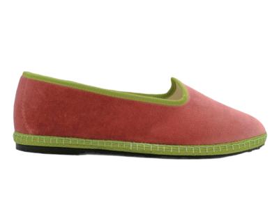 Friulana Fratta - 205 Bi-Color - Velluto Rosa Antico - Gro Verde Muschio