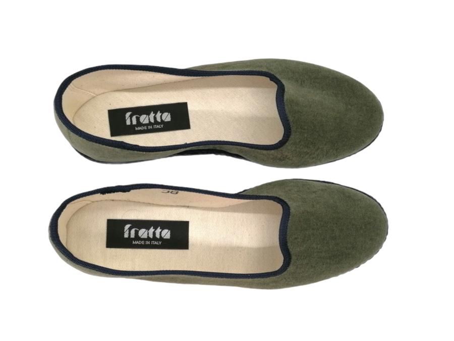 Friulana Fratta - 205 Bi-Color - Velluto Verde Oliva - Gro Blu
