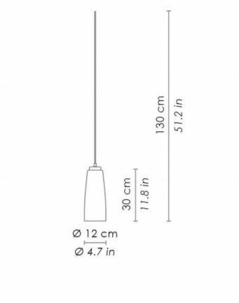 Lampada a Sospensione PERLE Ø 14 cm di Zafferano Bespoke in Vetro di Murano, Varie Lunghezze e Finiture - Offerta di Mondo Luce 24