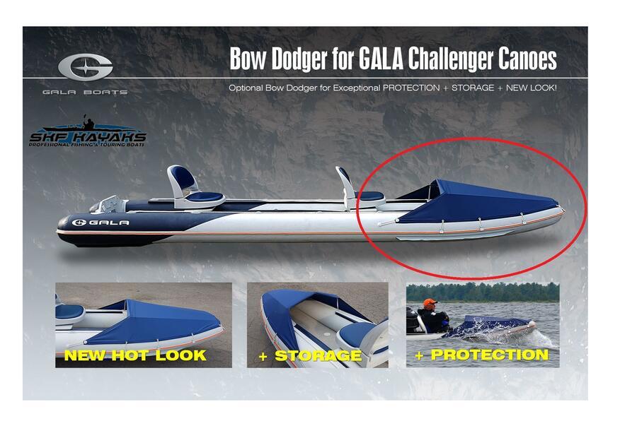 Paraschizzi di prua per Canoe Tender Gala