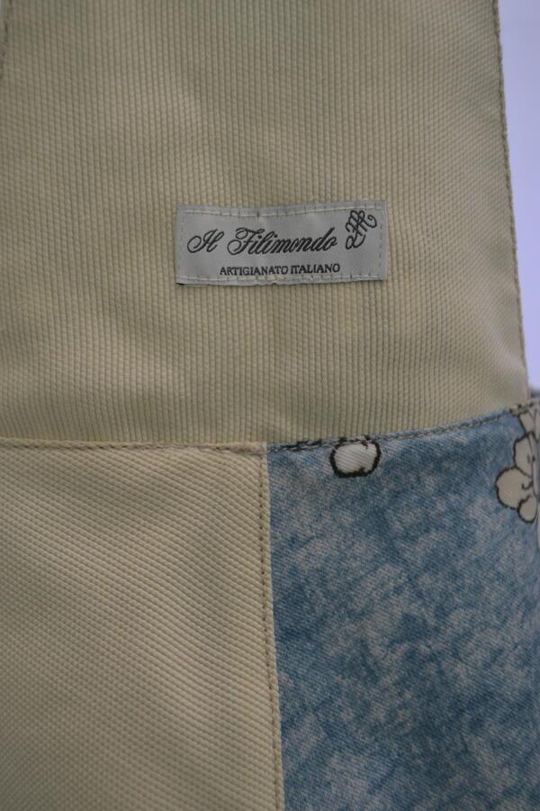 borsa linea giappone reversibile in cotone e jeans vintage00004pezzo unico