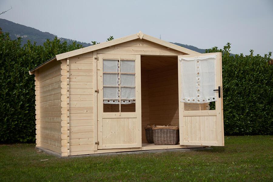 Casetta in legno 3,00 m x 3,00 m - Mod. Agnese - 28 mm - TRASPORTO INCLUSO