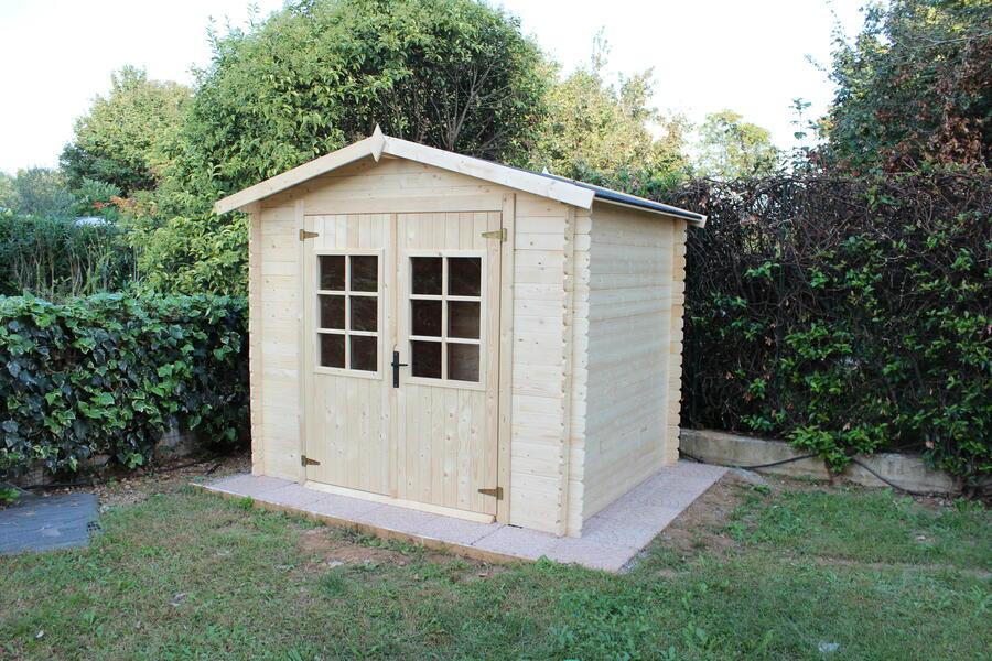 Casetta in legno 2,45 m x 2,00 m - Mod. Sassari - 19 mm - TRASPORTO INCLUSO