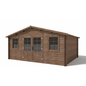 Casetta in legno con Pavimento 5,00 m x 4,00 m - Mod. Livorno - 40mm - Impregnata in autoclave - TRASPORTO INCLUSO