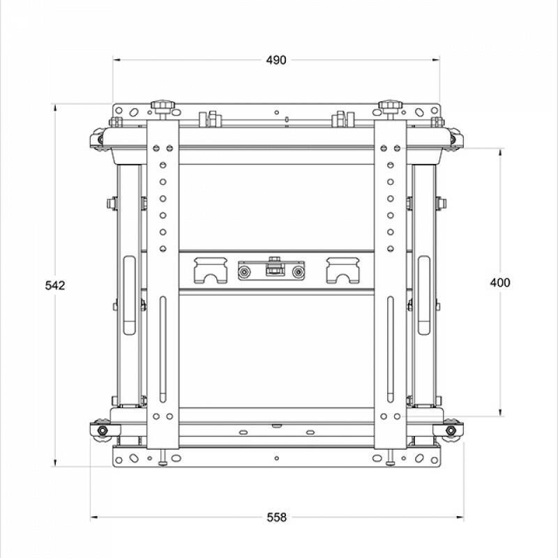 Multibrackets - Push and Pull LIGHT VESA 400x400