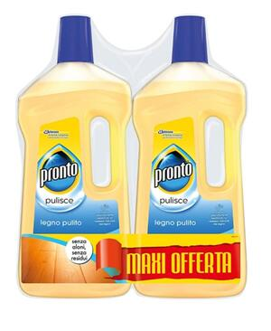 Pronto Legno Pulito, Detergente Pavimenti Parquet, 2 Pezzi da 750 ml