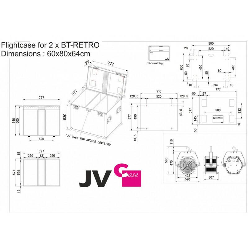 CJB Systems - Flight case per 2x BT-RETRO