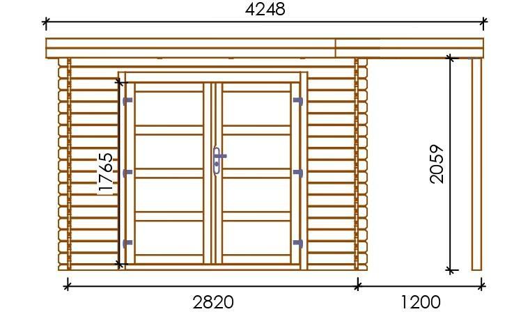 Casetta in legno con Pavimento 3,60 m x 3,00 m - Mod. Lecce - 28mm - Impregnata in autoclave - TRASPORTO INCLUSO
