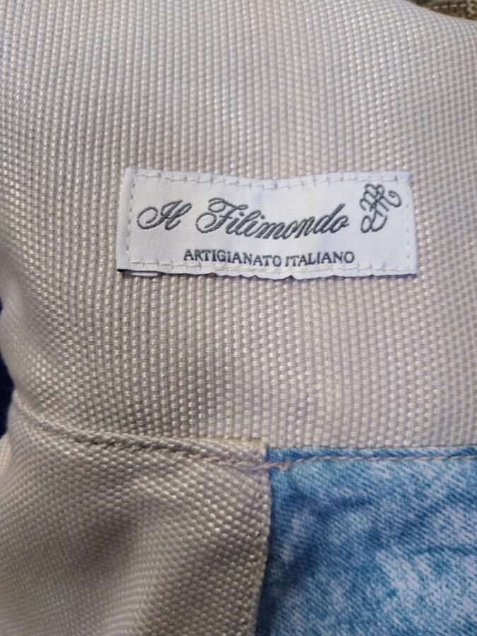 borsa linea giappone reversibile in cotone e jeans vintage00005pezzo unico
