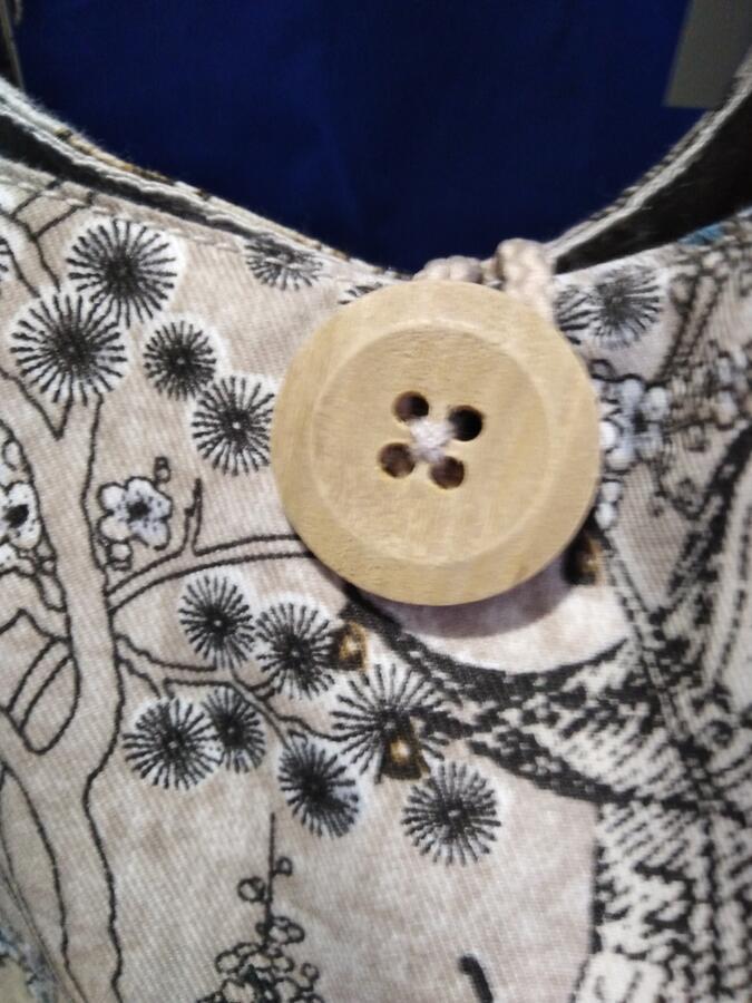 borsa linea giappone reversibile in cotone e jeans vintage00006pezzounico