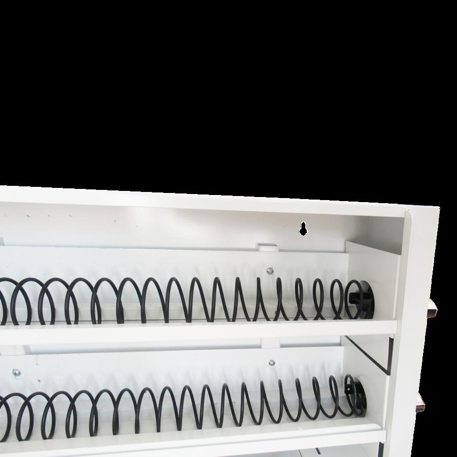 Distributore di piccoli prodotti con Gettoniera meccanica (2 file a 50 Cent)
