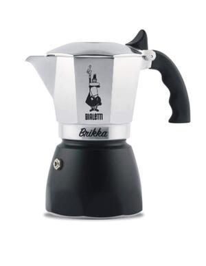 Bialetti New Brikka, Caffettiettiera in Alluminio per caffè con Doppia Crema, 4 Tazze