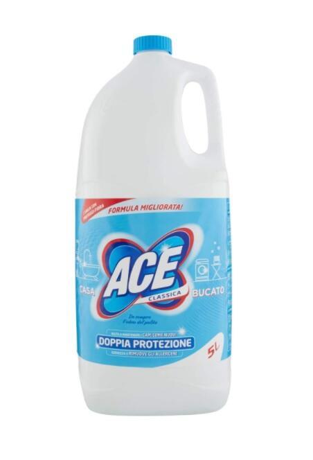 ACE CANDEGGINA CLASSICA Igienizzante Casa e Bucato, Flacone da 5LT