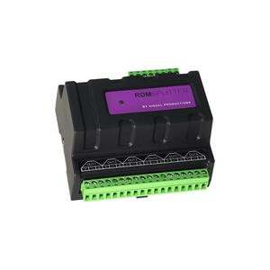 Visual Productions - RdmSplitter - Splitter / booster DMX / RDM su guida DIN