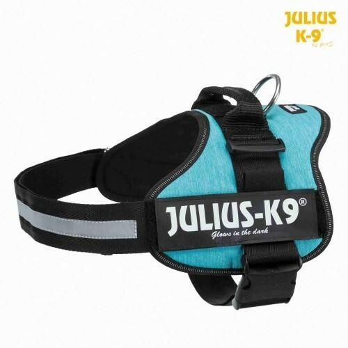 Julius k9 IDC Jeans Azzurra Taglia 2XL 71-96 cm Peso 28-40 Kg Pettorina Per Cani Celeste