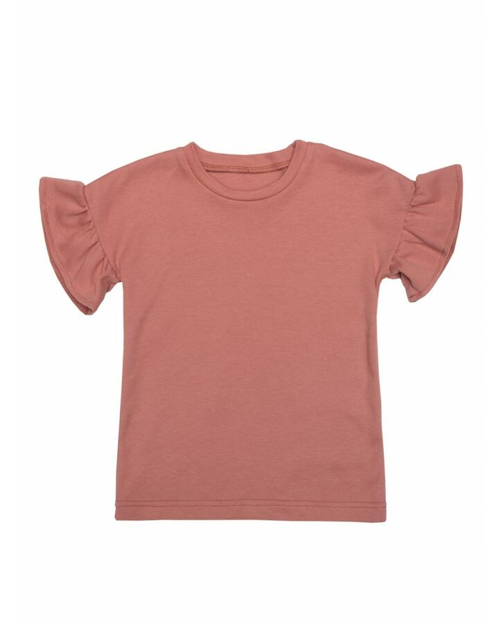 T-Shirt con frappe Peach