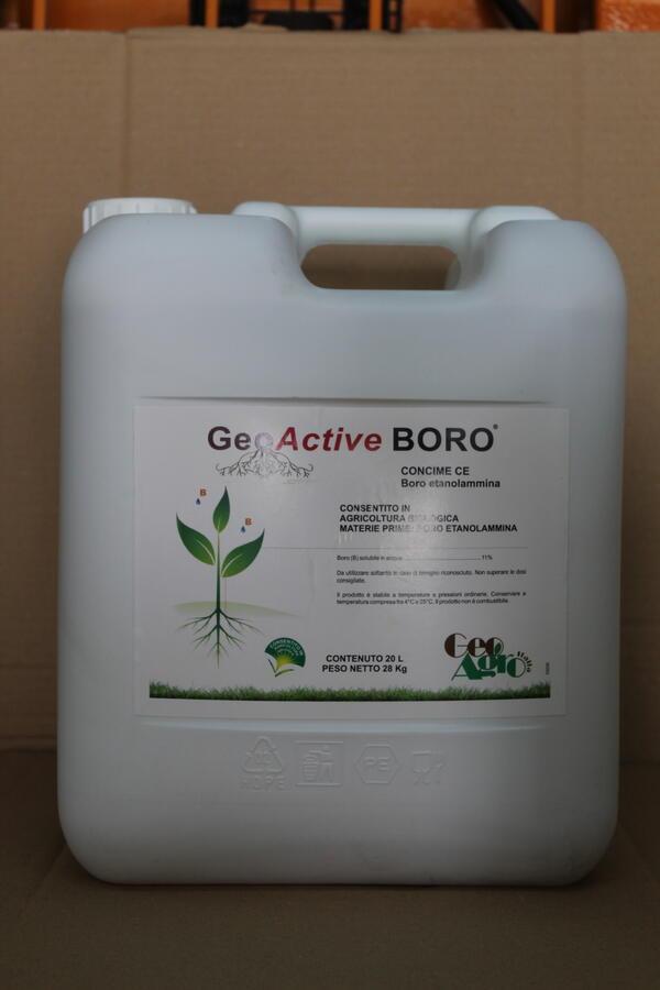 GEOACTIVE BORO TANICA 10 LT PARI A 14 KG AUTORIZZATO IN AGRICOLTURA BIOLOGICA
