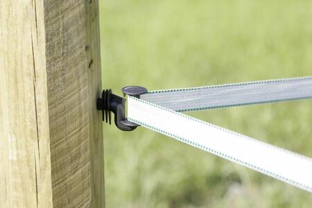 Isolatore angoli SUPER per bande per recinti elettrici fino a 40mm busta 10 pz