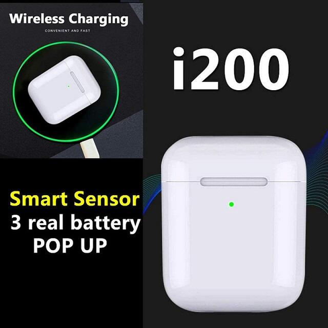 Cuffie Bluetooth con controllo touch TWS i200, auricolari wireless in-ear