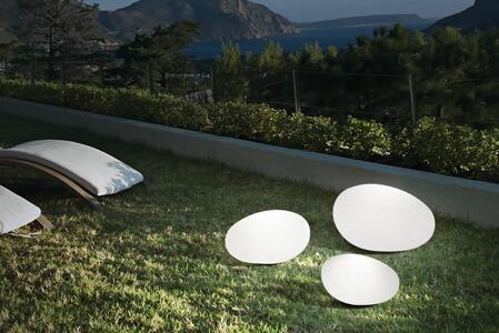Lampada per Esterno da Terra SASSO PT1 in Materiale Plastico Opale di Ideal Lux, Varie Misure - Offerta di Mondo Luce 24