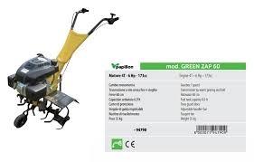 Motozappa Green Zap 60 KEuro 3N Motore 4T-173cc- 6HP 052118