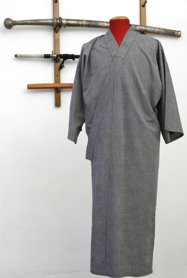 Kimono yukata grigio