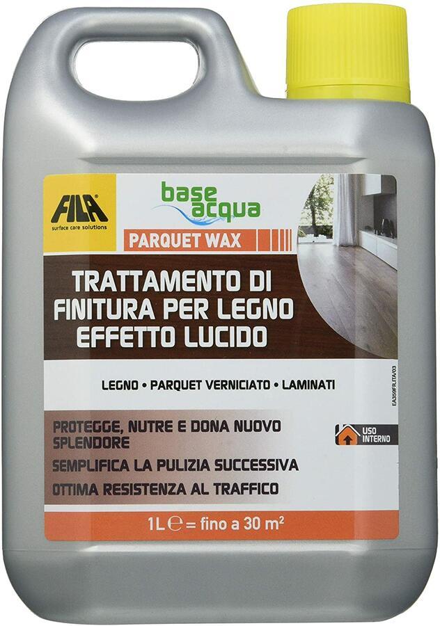 FILAPARQUET WAX Cera liquida per pavimenti in legno verniciato e laminati plastici 1 lt