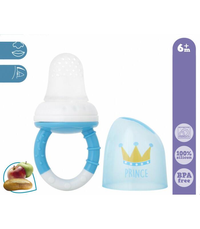 Rete Alimentare Antisoffocamento in Silicone - Blu