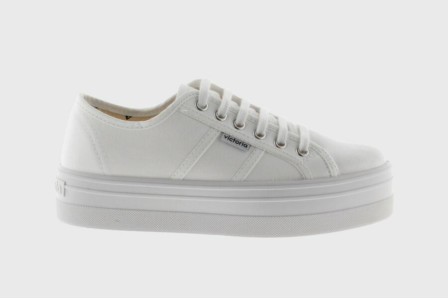 Victoria - Sneakers Zeppa 109200 - Bianco