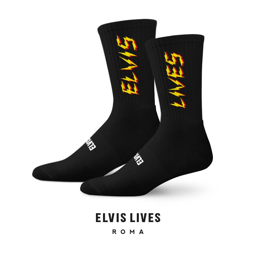 Elvis Lives Socks - Flash