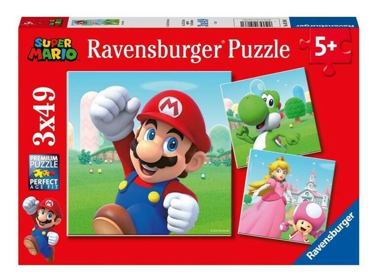 PUZZLE TRIPLO 49 PEZZI SUPER MARIO 18 X 18 CM RAVENSBURGER