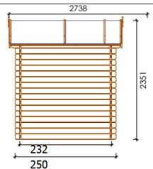 Casetta in legno 3,00 m x 2,50 m - Mod. Venezia - 28 mm con pavimento e Trasporto