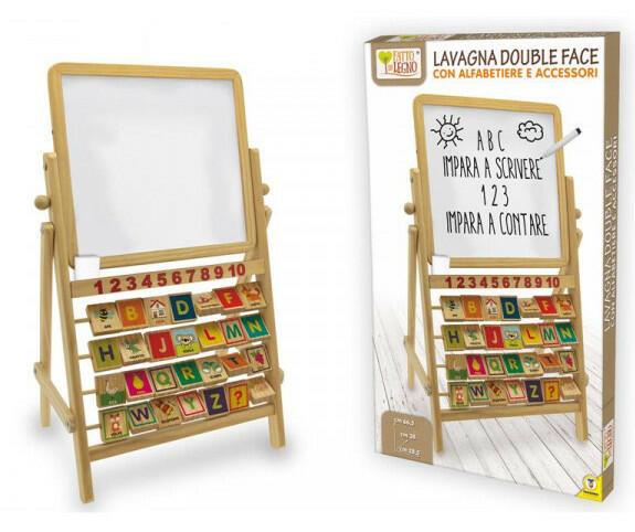 Lavagna double face con alfabetiere in legno - Teorema 40513 - 3+