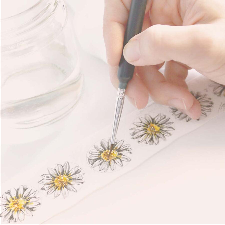 Segnalibro Margherita - dipinto e lavorato a mano