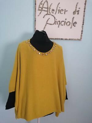 Poncho Senape